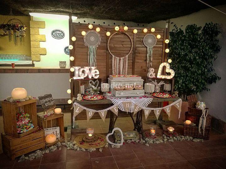 Candy bar, mesas dulces