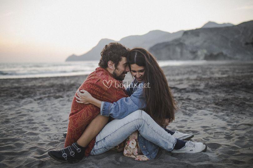 Amor en la playa de Mónsul