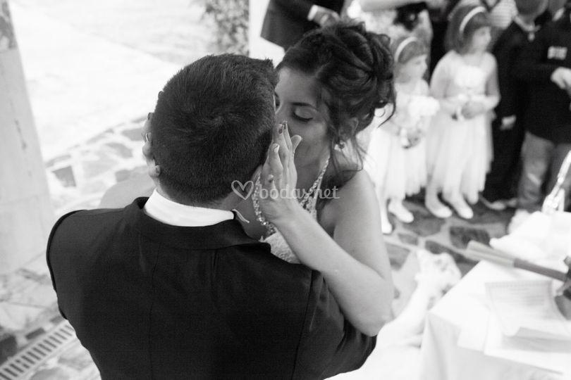 Beso de Enric & Mónica