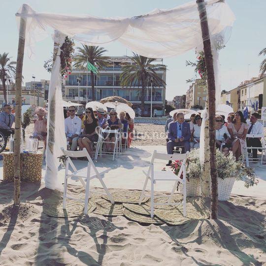Ceremonia de playa