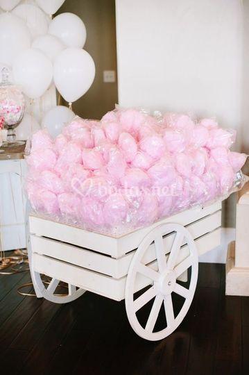 Carrito de algodón dulce