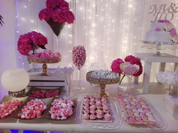 Variedad de dulces y golosinas