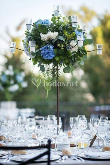 Centro de flores para boda