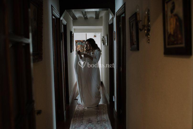 Salida de la casa de la novia