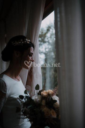 La novia esperando