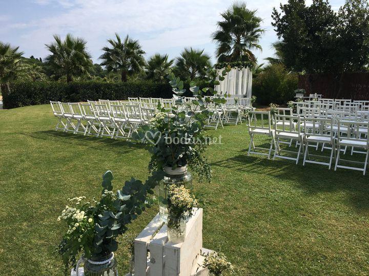 Espacio para la ceremonia