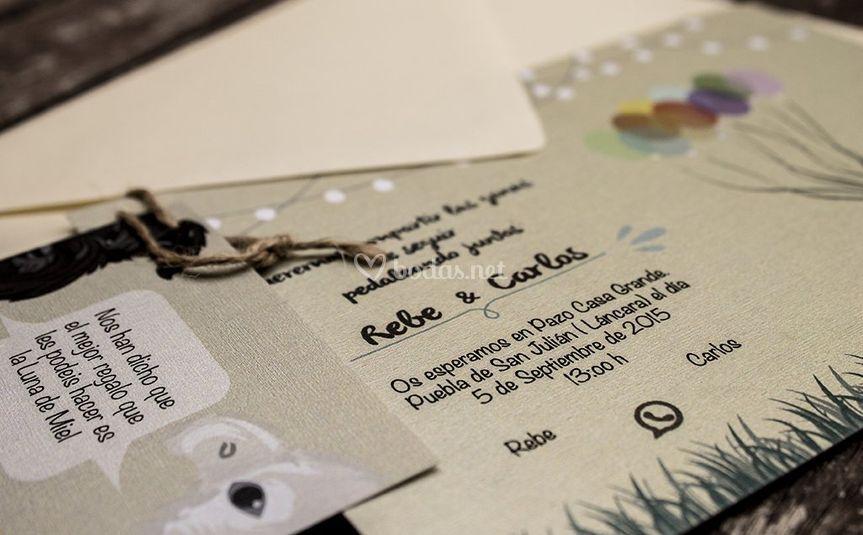 Invitaciones y tarjeta