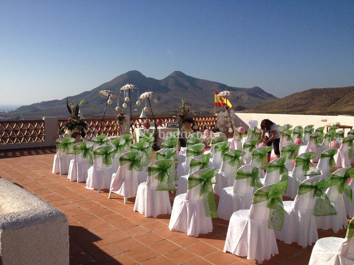 Ceremonia con vistas