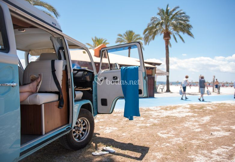 VW Bulli en Alcudia beach