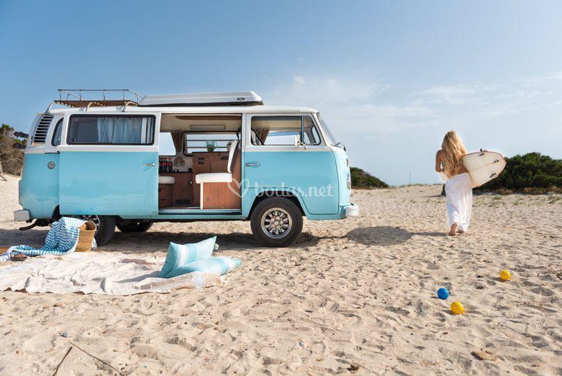 VW T2 Westfalia en Es Trenc
