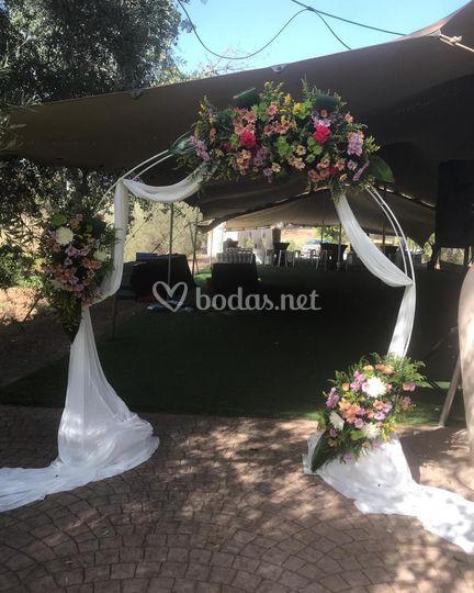 Montaje de Arco para boda