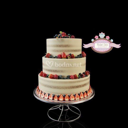Naked cake para boda