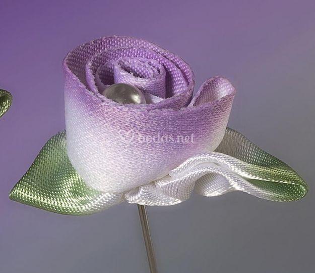Alfiler flor de tela