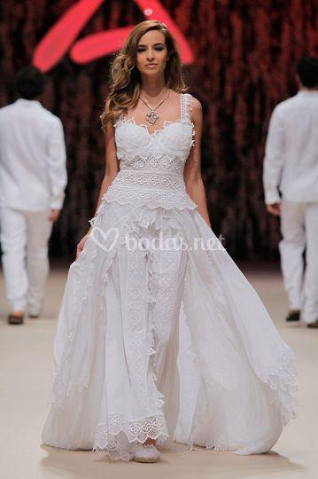 Vestido novia ibicenco madrid
