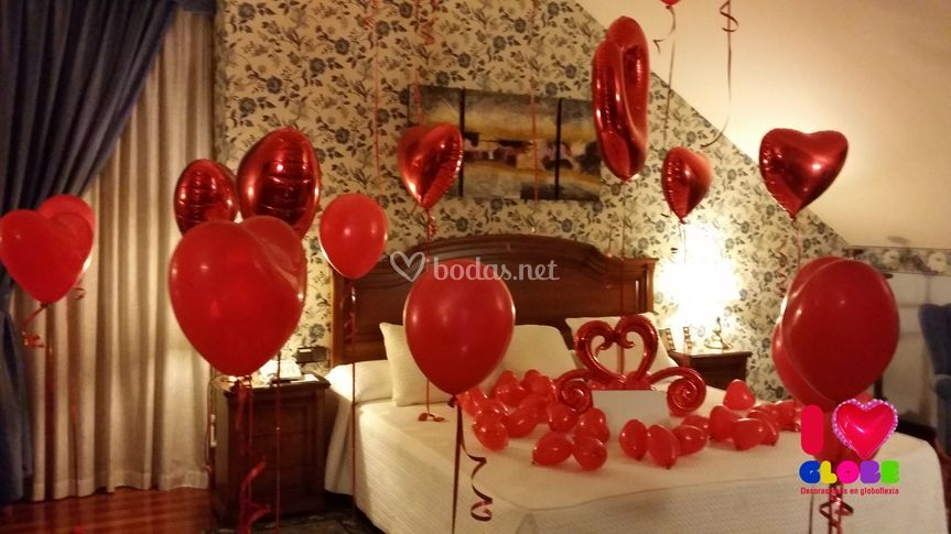 Iglobe for Cuartos decorados romanticos con globos