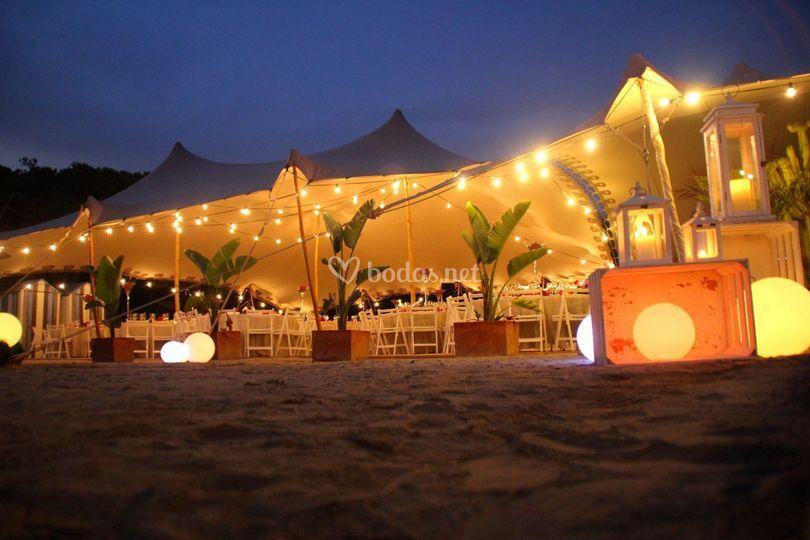Iluminación Beduina Playa