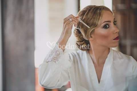 Maquillaje de novia intenso