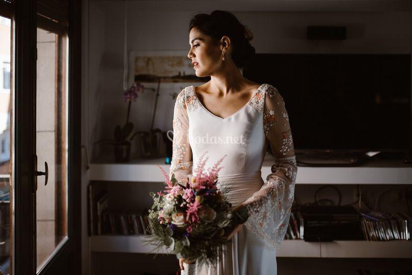 Tere, una novia floral