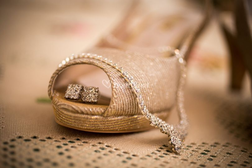 Detalle de zapato de novia