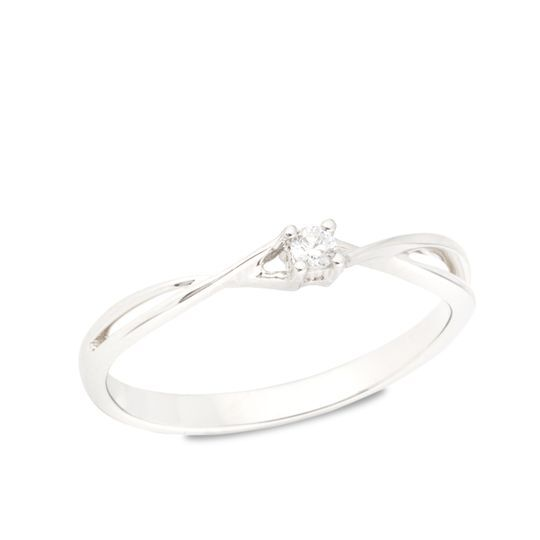O. blanco 18kts c/ diamante