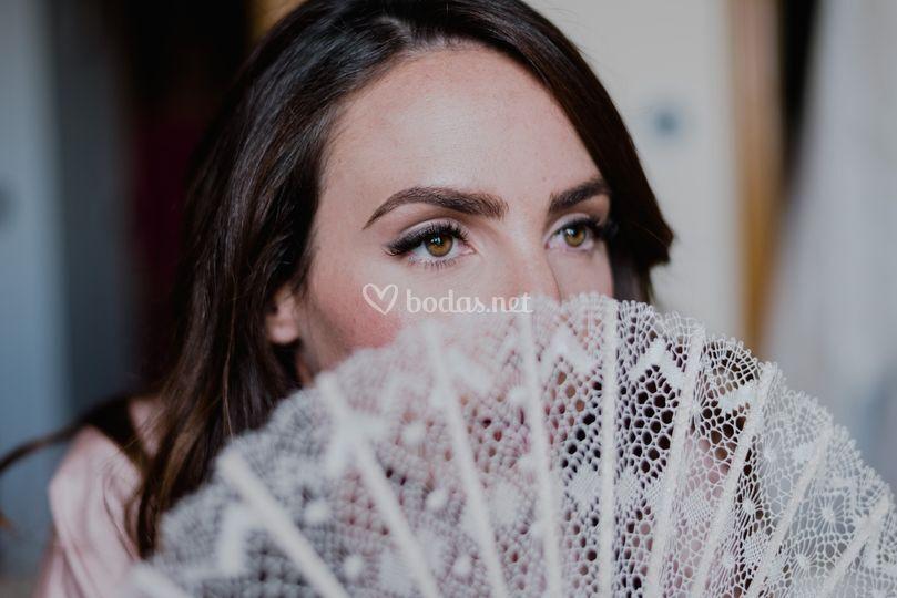 Maquillaje de novia detalle
