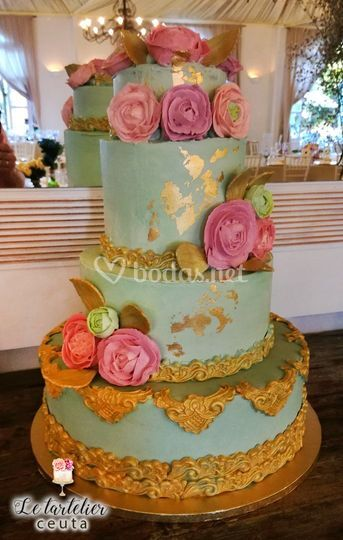 Tarta de boda barroca