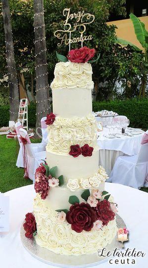 Tarta de boda 6 pisos