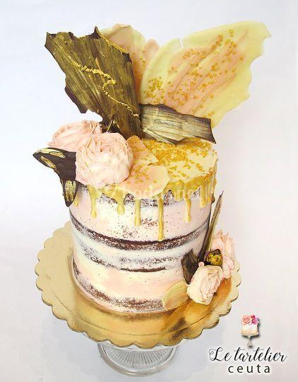 Tarta Con Adornos De Chocolate De Le Tartelier Foto 30 - Adornos-tarta