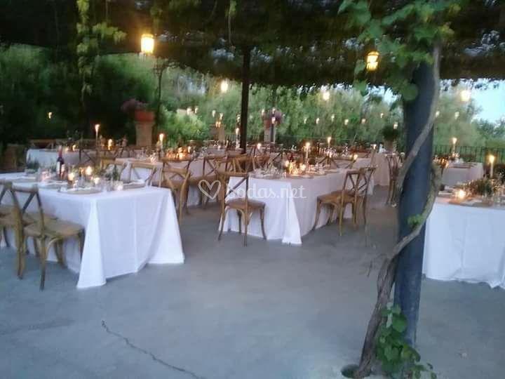Mesas banquete en parral