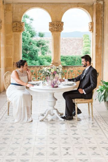 Giada y Jordi en su mesa