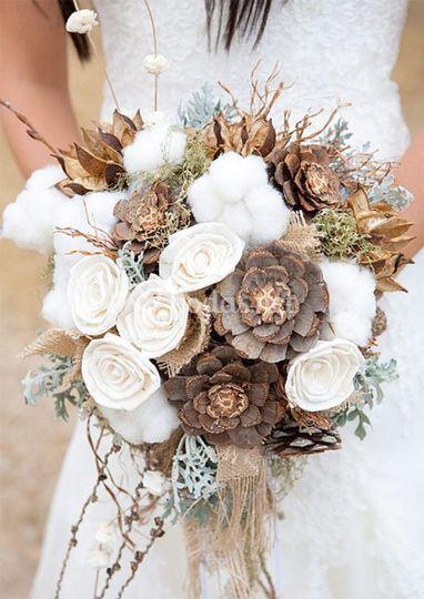 Ramo para boda de invierno
