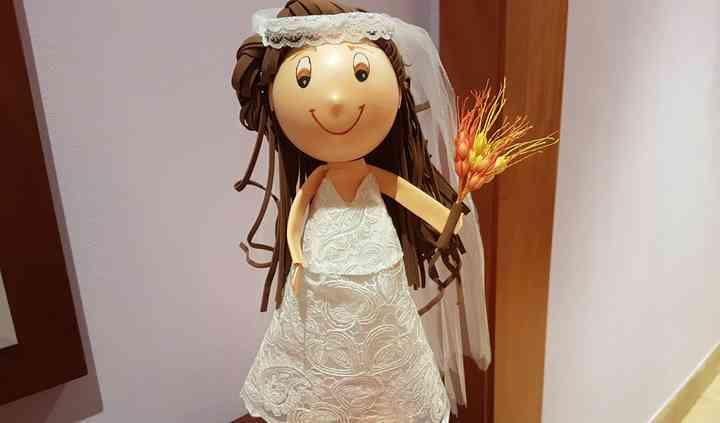 Fofucha personalizada novia