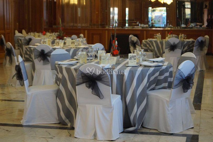 Detalle de boda mantelería