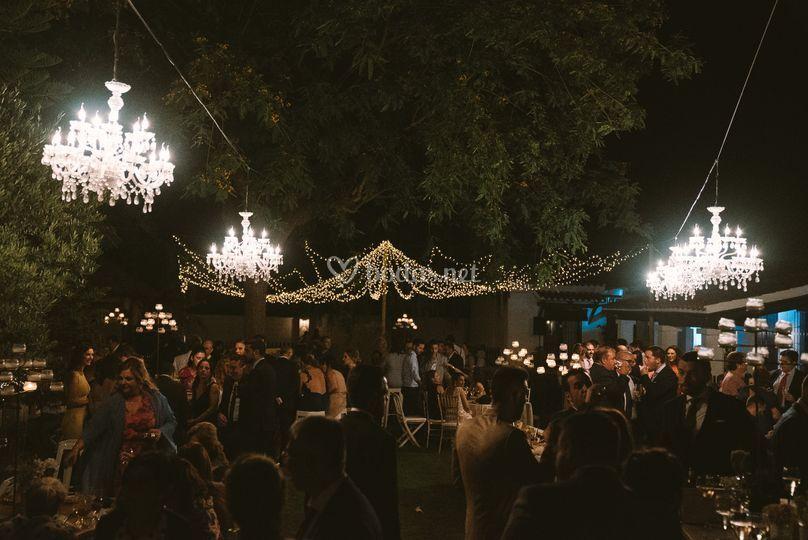 Iluminación de fiesta privada