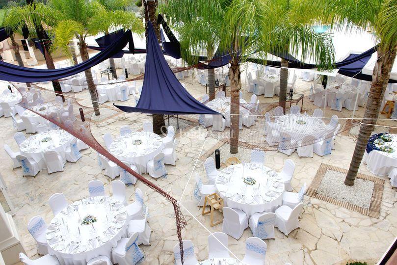 Banquete en Zona Piscina