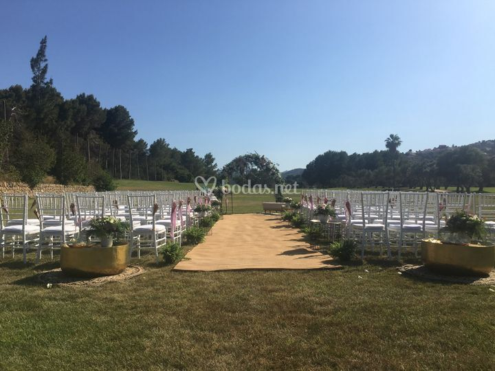 Ceremonia en campo de golf