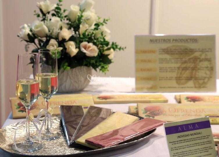 Obsequios, maridajes, mesas