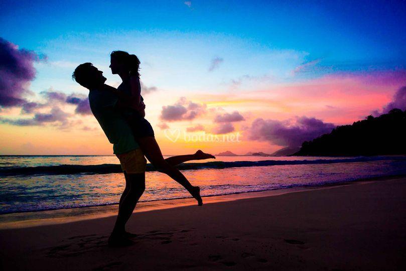 Atardeceres románticos