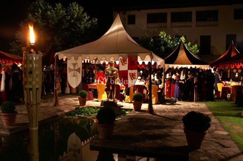 Boda medieval de noche
