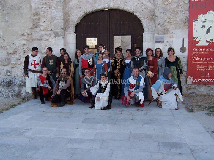 Vestuario medieval invitados