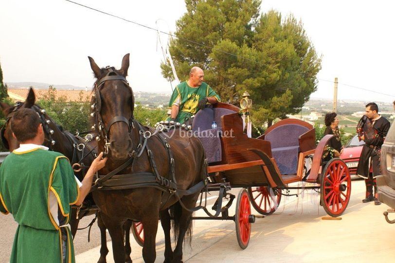 Carroza de caballos