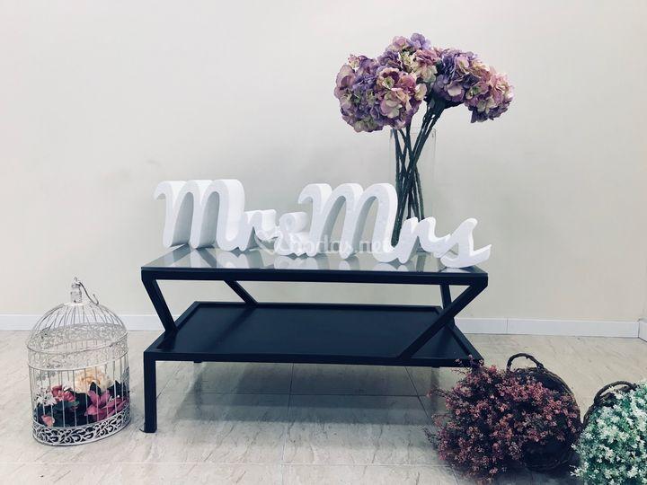 Letras poliespan Mr&Mrs