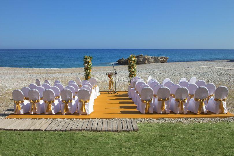 Ceremonias - Tarima playa