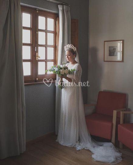 Preciosa Tamara en su boda