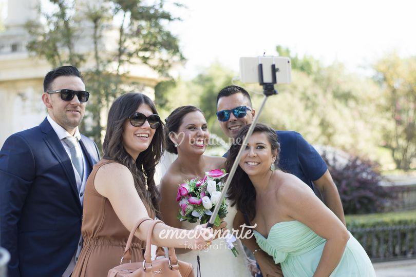 Selfie con turistas