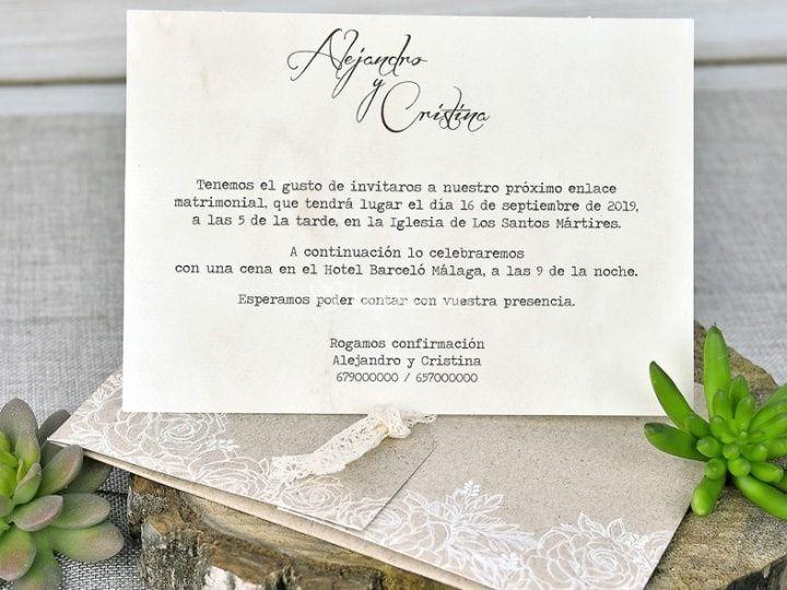 Invitación personalizada