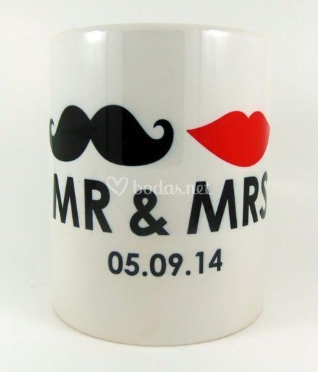 Taza personalizada Mr & Mrs.