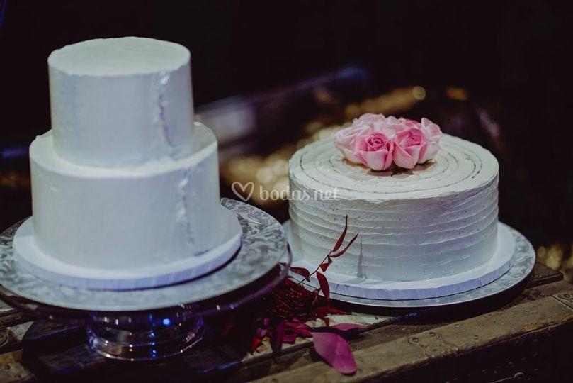 Composición de tartas rústicas