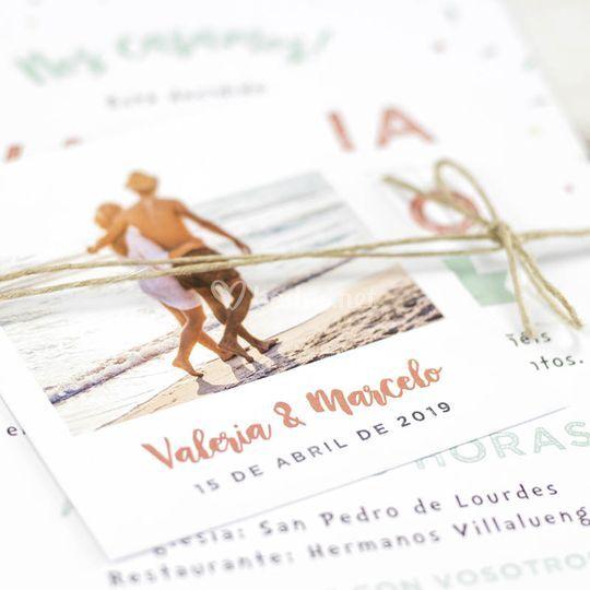 Invitación de boda Modelo Joy