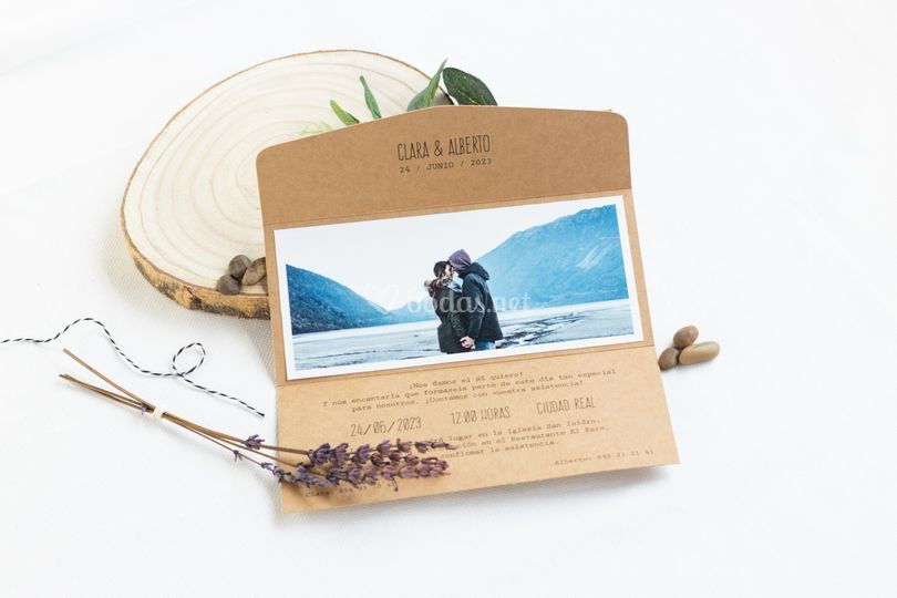 Invitación de boda Adventure